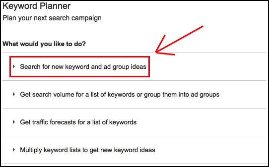 keyword planner 1