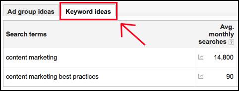 keyword planner 3