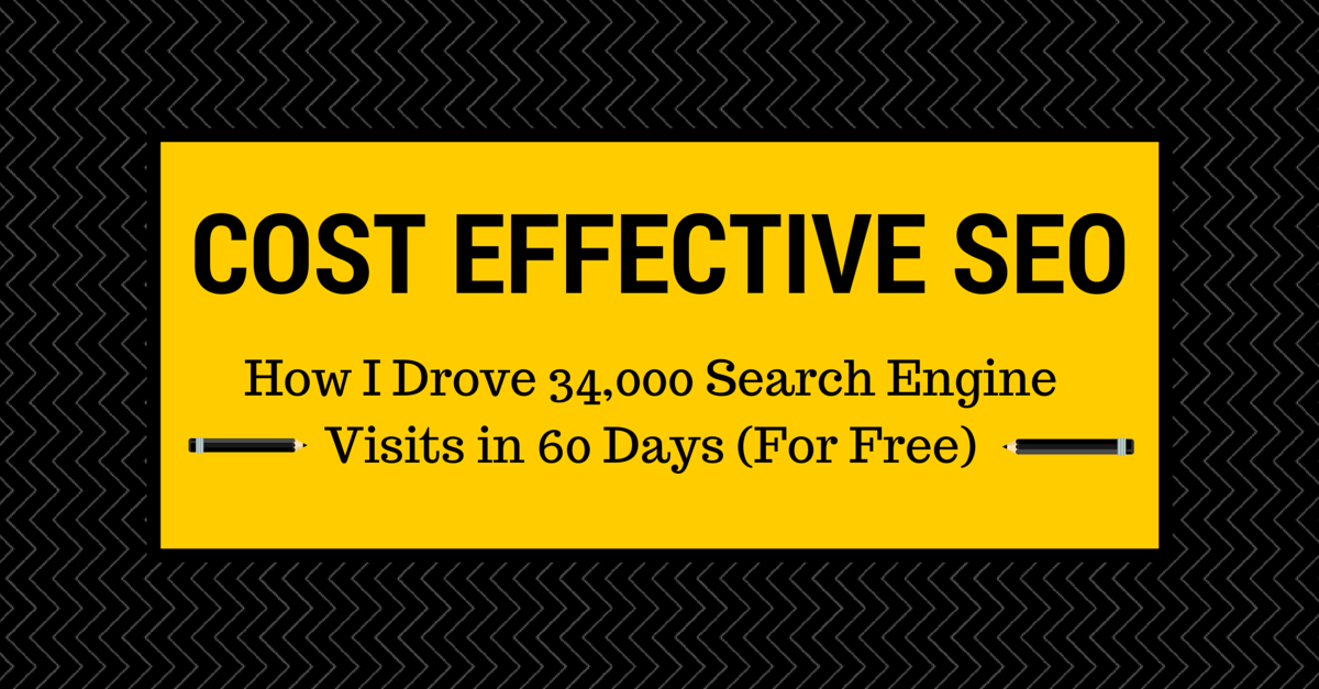 Cost Effective SEO: How I Drove 34,000 Search Engine Visits in 60 Days (For Free)